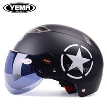 New YEMA dual lenses Motorcycle Helmets Motorbike Half Face Anti-UV spring autumn Helmet casco Capacete casque