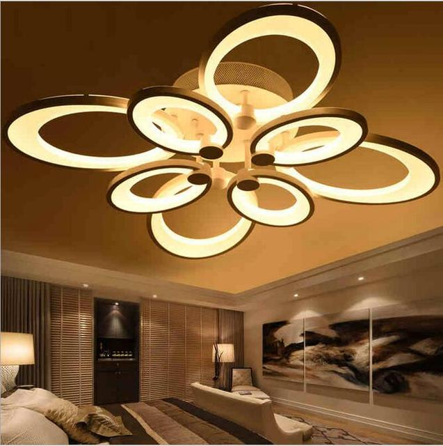Modern High Led Chandeliers Lamps Living Room 75w Light Chandelier Super Bright 5730 Re