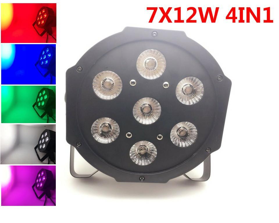 LED par light 7x12w RGBW DJ Disco DMX controlled stage lighting
