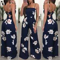 Womail bodysuit Frauen Sommer Mode Damen Clubwear Floral Overall Bodycon Party Overall Hosen neue 2019 dropship M4