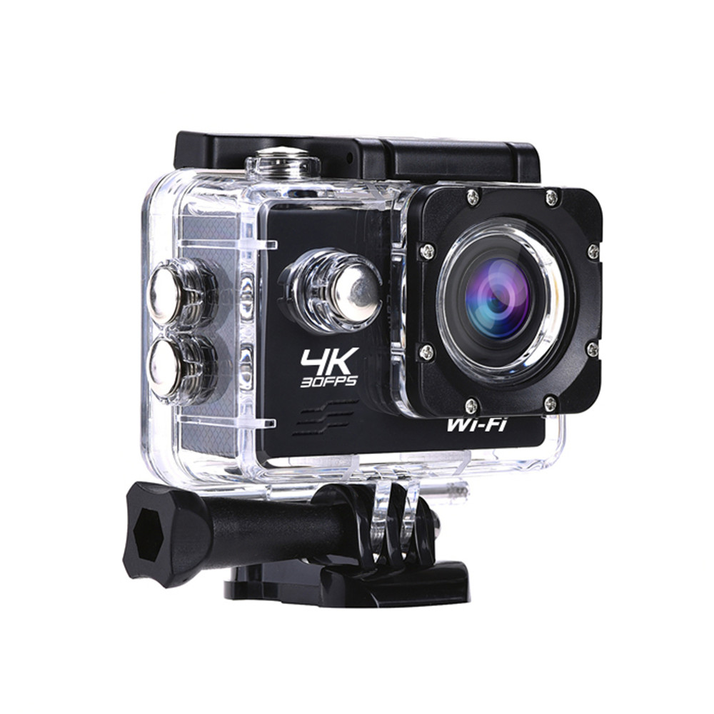 AT-Q1 Sports Action Camera 4K 1080P WiFi 2.0Inch 30m Underwater Waterproof Sport Cam Surfing Diving Accessory