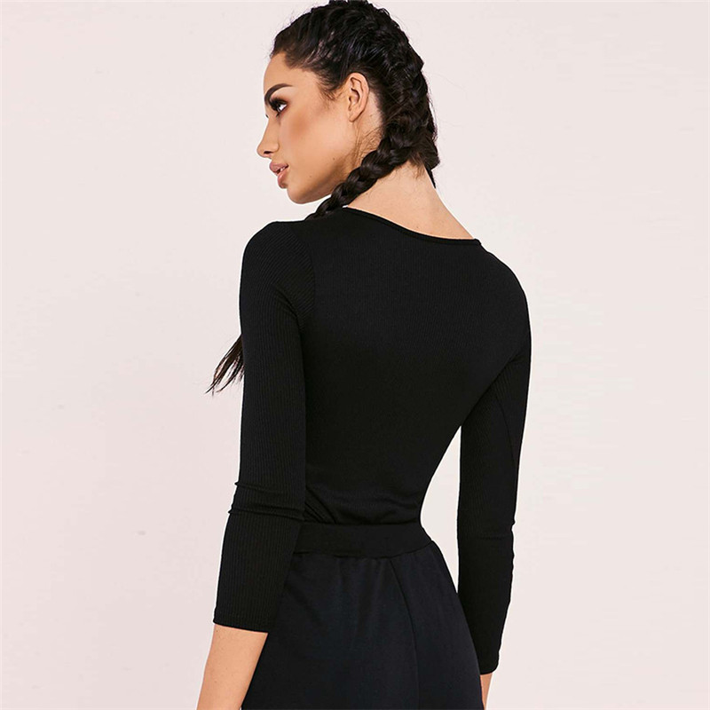 ribbed knitted long sleeve bodysuit 15