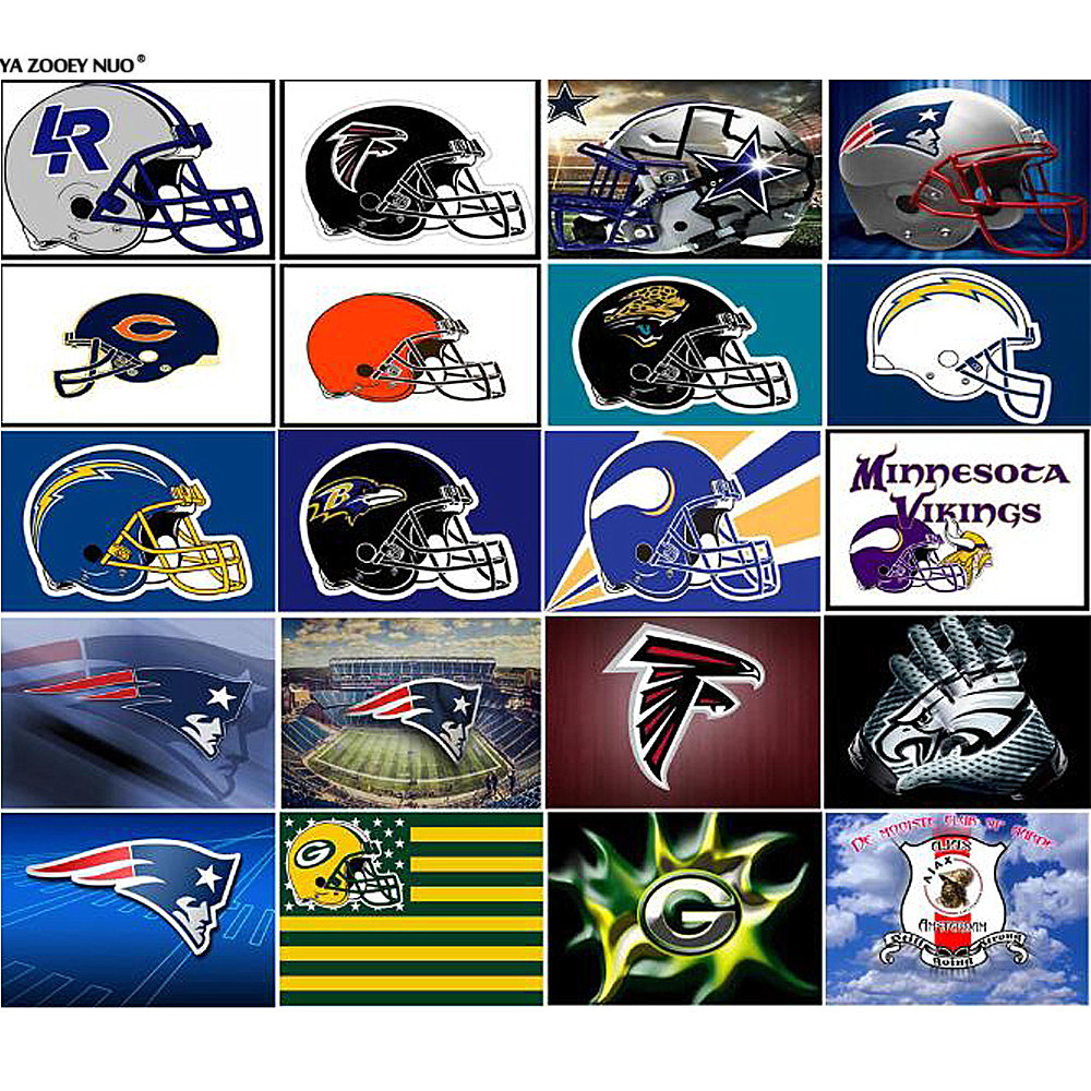 Diamond Painting Full Square / Round Drill NFL Team Logo American Football Team Helmet Logo Sport Man Crystal Cross Stitch YU613 image