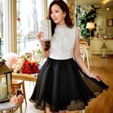 Original 2016 Brand Summer Dress Plus Size Short Sleeve Pearls Elegant Casual Slim Waist White Shirt Dresses Women Wholesale