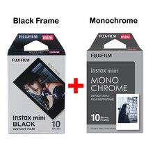2017 Подлинная Fujifilm Fuji Instax Мини Фильм Монохромный Моно + Черная Рамка пленка для Mini 8 70 8 Плюс 90 25 Камеры SP-1 SP-2 плюс