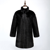 Fashion With Leather Belt Hairy Fluffy Fur Coat Faux Fur Coat Thick Warm Overcoat Fourrure Women Long Hairy Shaggy Jacket A4