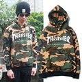 Камуфляж Скейтборд Thrasher Журнал Балахон Мужчин 1:1 Хлопок Hip Hop Clothing Осень Военный Камуфляж Пуловер Громила Кофты