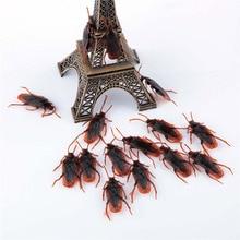 10pcs/set Funny Prank Trick Joke Special Lifelike Model Fake Cockroach Roach Toy