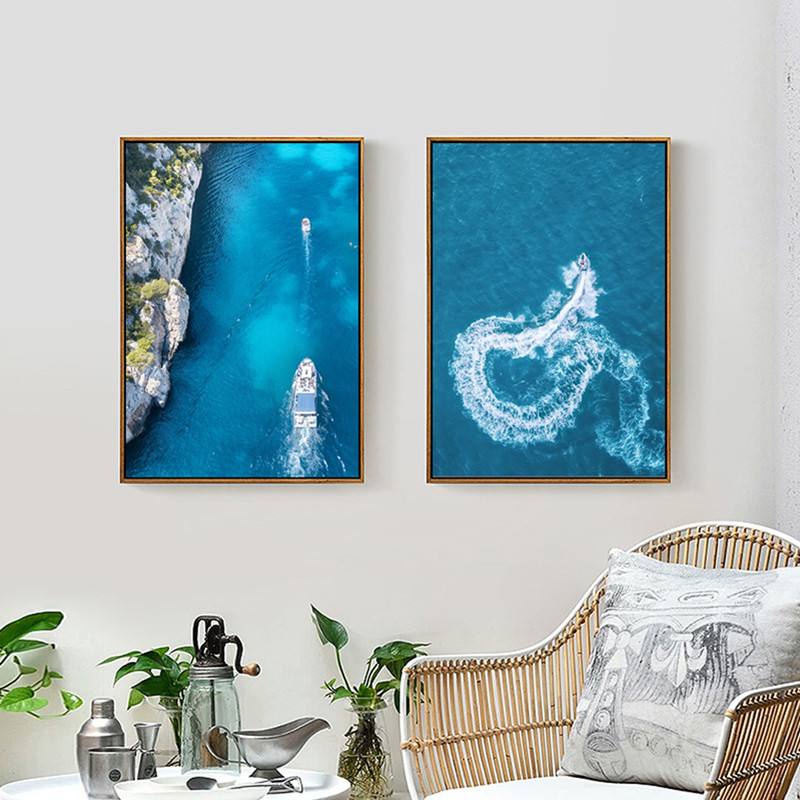 Scandinavian Style Landscape Art Canvas Painting Sea Art Wall Pictures For Living Room Acrylic Paints Decoration Home