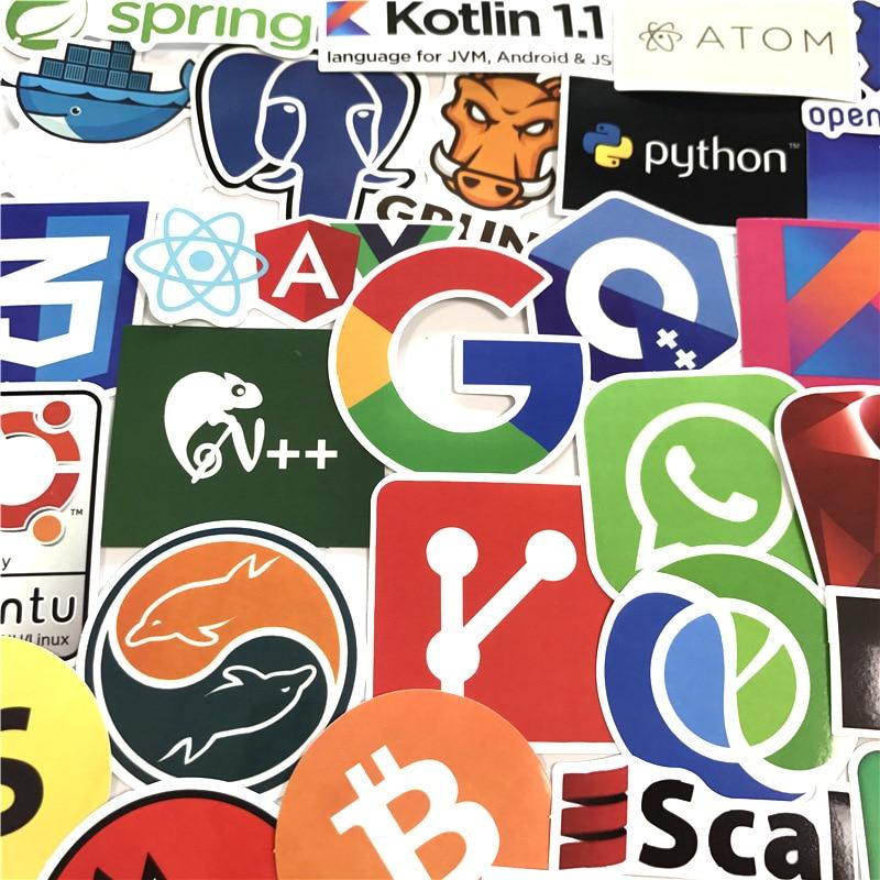 Image 4 - 50 ピースプログラミングステッカー Java JS Php ドッカー Bitcoin Html  クラウド言語アプリロゴおかしいステッカー車の DIY ステッカー    グループ上の おもちゃ