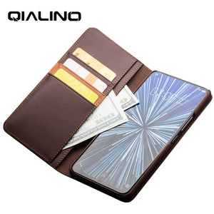 Image 3 - QIALINO אמיתי אמיתי עור אופנתי Flip Case עבור Vivo NEX עסקים בעבודת יד יוקרה כיסוי עם כרטיס חריצים עבור NEX 6.59 inch