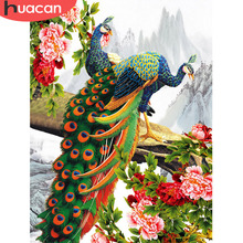 HUACAN 5d Diamond Painting Peacock Animals Picture Of Rhinestone Full Drill Square Embroidery Decoration Home