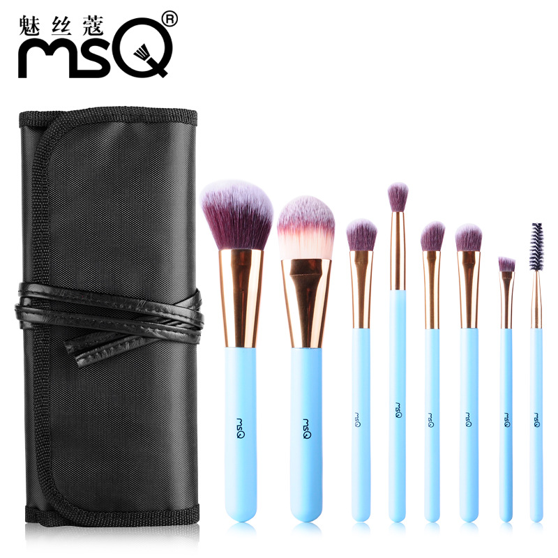 Makeup Brushes New Design Wood Handle Synthetic Hair Brush Tools 8Pcs/Set Beginner Makeup Foundation Contour Brush For Beauty 2016 new arrival black dual purpose eyelash assist device extension beauty supplies brow brush lash comb makeup brushes tools
