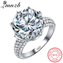 LMNZBหรูหราบิ๊ก6ct Solitaireแหวน925 Cz(China)