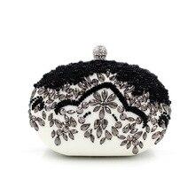 Luxuriöse Kristall Perlen Abendtasche Frauen Blume Kleid Handtaschen Fest Clutch Geldbörse Kristall Party Bag Bankett Brieftasche