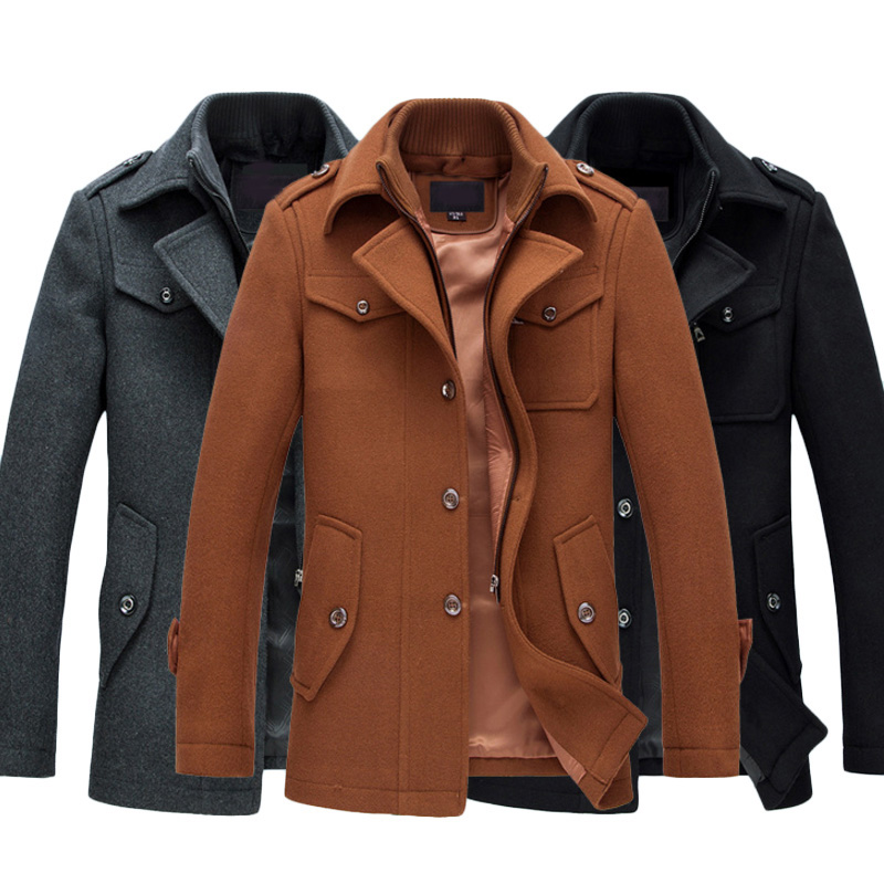 Size Plus Fashion Freizeitjacke Großhandel Warm Mantel Coat Herren M Winter Fit Wollmantel Oberbekleidung Pea Mantel Candd Jacken Man 4XL Von Slim wkZPTOXiu