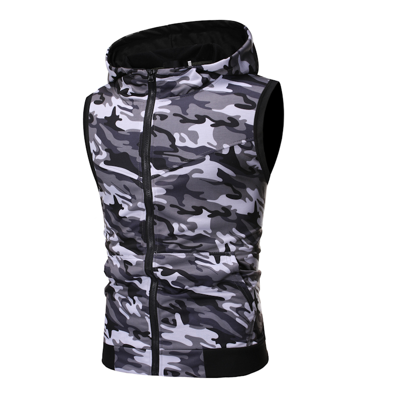 2019 Summer New Men'S Hot Classic Sports And Leisure Camouflage Set Sleeveless Vest, Camouflage Shorts 2 Piece Sports Suit 2