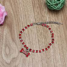 Dog Accessories and Collar Fashion Diamante Bone Rhinestone Pendant Pet Necklace Collar Dog Jewelry Collier Chien Strass(China)