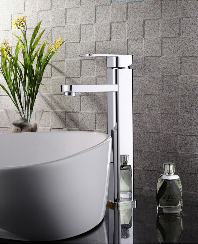 fashion chrome brass single lever hot and cold 320mm sink faucet bathroom basin faucet,tap mixer micoe hot and cold water basin faucet mixer single handle single hole modern style chrome tap square multi function m hc203