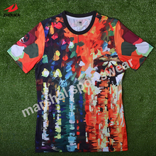 caf2c5305 Customized professional wholesale newest design individualized customization  sportswear OEM sublimation football team jersey(China)
