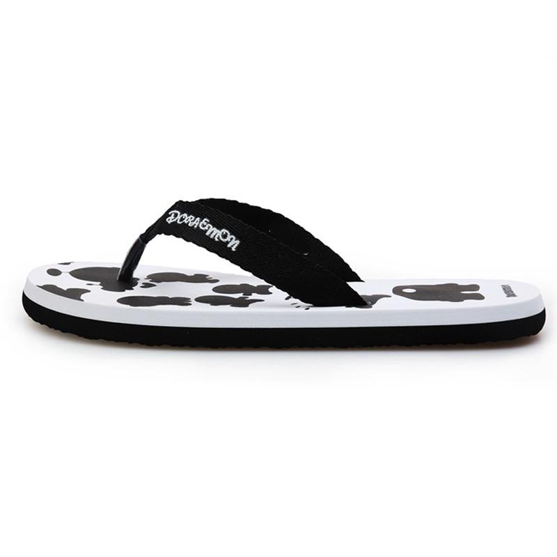 9d1c4c7c1034d4 Cartoon Flat Thong Slippers Summer Women Man Beach Flip Flops Sandal Lover  Home Casual Sandalias Shoes Free Shipping ZMS0015 D5-in Women s Sandals  from ...