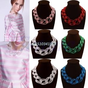 Lady Fashion Jewel Acrylic Col