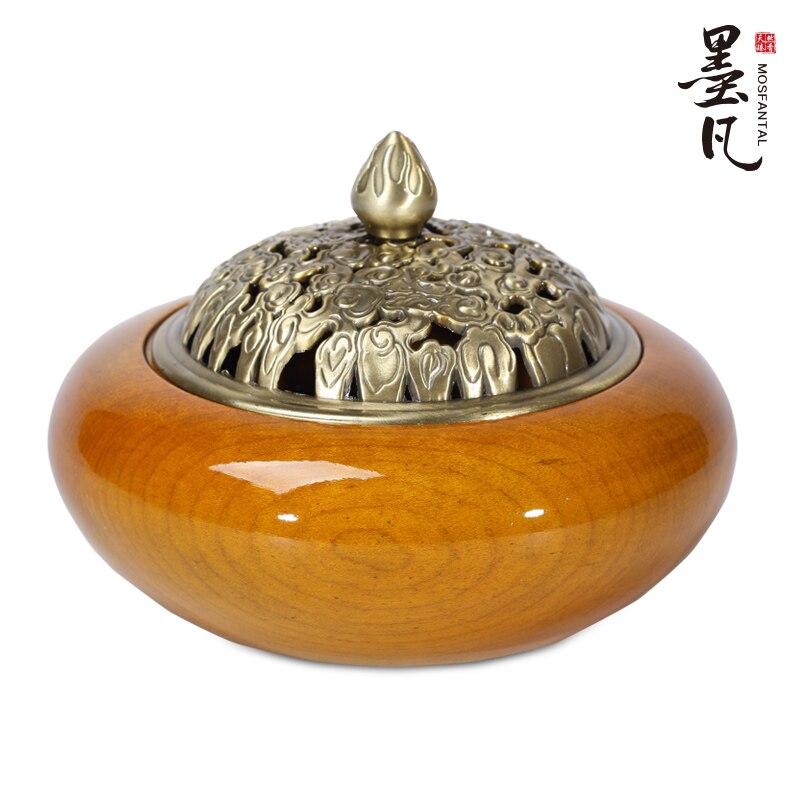 Phoebe Cedar incense coil incense burner gold gift box mahogany sandalwood incense heavy furnace oil burner fragrance