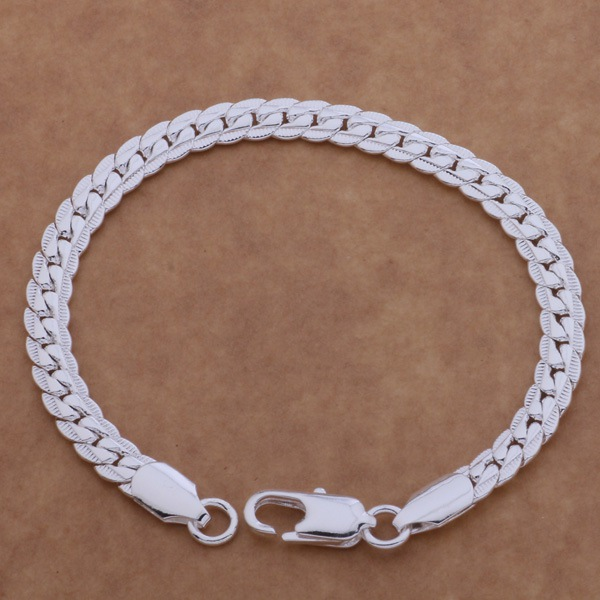 free shipping promotion silver plated charm bracelet gorgeous jewelry 5 m full lateral bracelet adlaiusa bpwakhda ah086 in chain link bracelets from