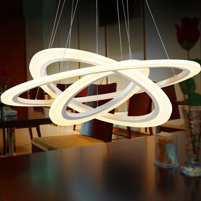 Ring LED Pendant Lights For Living Room Restaurant Personality Shop Hotel  Hone Decorations Salon Office Hanging