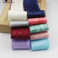 Kewgarden 16mm 25mm 1 38mm 1.5 Flower Double Lace Ribbons DIY Accessories Handmade Tape Ribbon Bows Brooch for Crafts 10 Yards