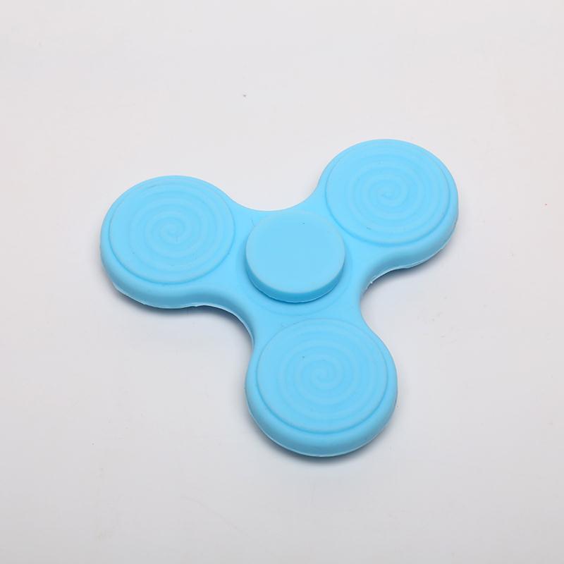Silicone Luminous Fidget Spinner Hand Spinner Tri Finger Ball EDC Desk Focus Fidget Toy