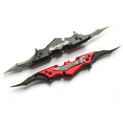 1 шт. нож с двойным лезвием Banggoode Карманный складной Бэтмен с ножом ниндзя Наруто кунай тактические летающие ножи с зажимом для ремня