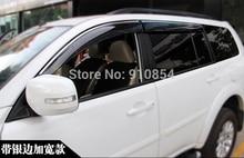 Window Visor Vent Sun Rain Guard Shield for Mitsubishi Pajero Sport 2011 2014