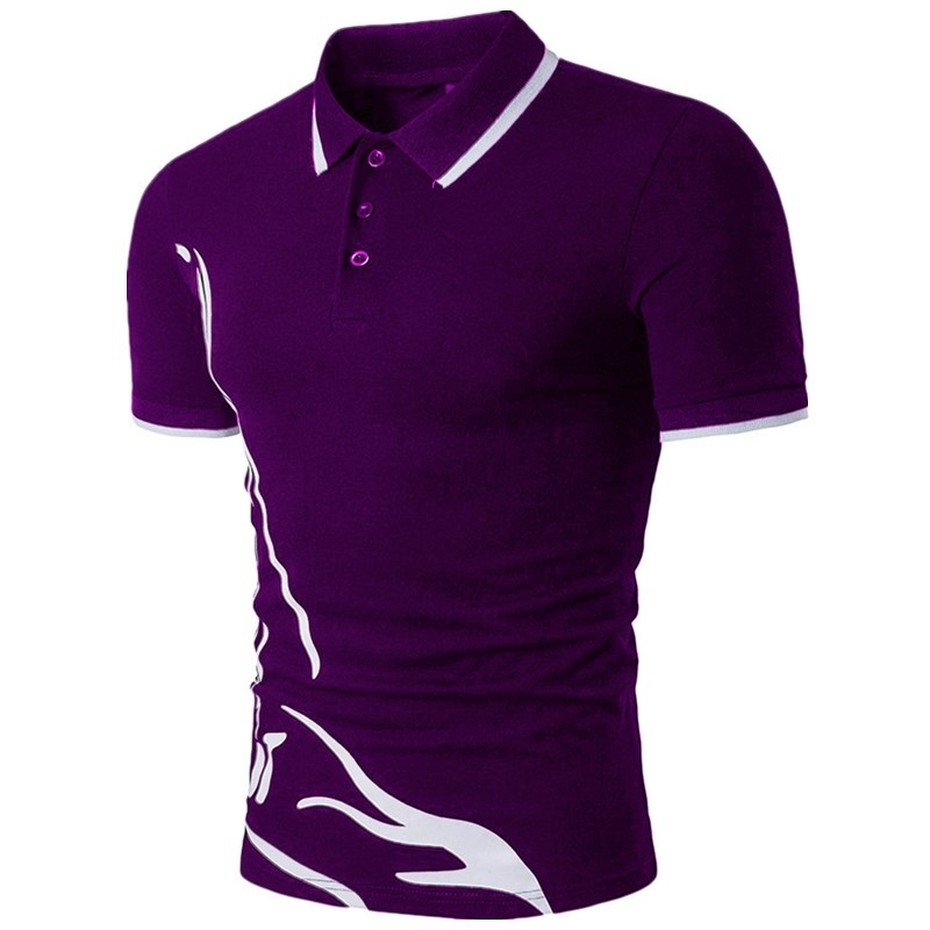 ZOGAA men's   polo   shirt short sleeve casual slim pure color   polo   shirt shrink water fast dry outdoor