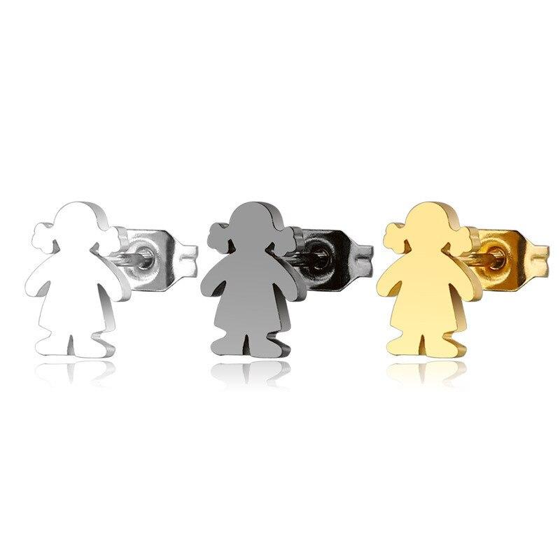 Женские серьги-гвоздики из нержавеющей стали, простой стиль, подарочные украшения для ушей, новый дизайн