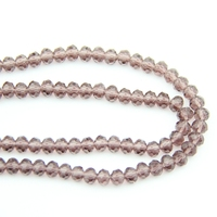 720 3600pcs 4X6/6X8mm Faced Glass Lavender Crystal Rondelles Beads China Craft Material For Home Decoration Wholesale