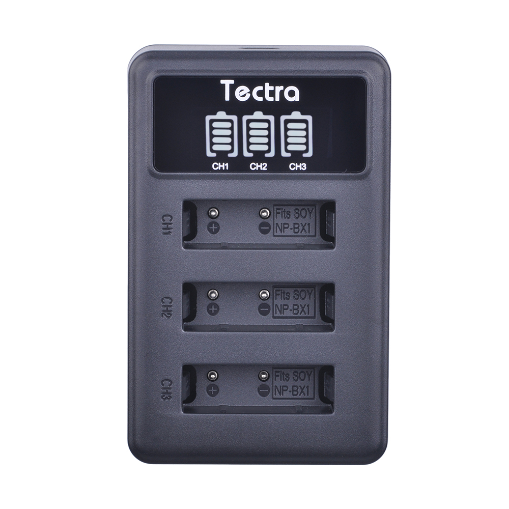 Tectra NP-BX1 NP BX1 Battery 3-Channel LED Display USB Charger for Sony DSC-RX100 RX1 HDR-AS15 AS10 HX300 WX300 sony np bx1