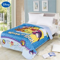 Winnie de Pooh Knorretje Teigetje Zomer Quilts Trooster Baby Katoenen Beddengoed Single Twin Queen Geel Blauw Dolka Dot Disney Cartoon