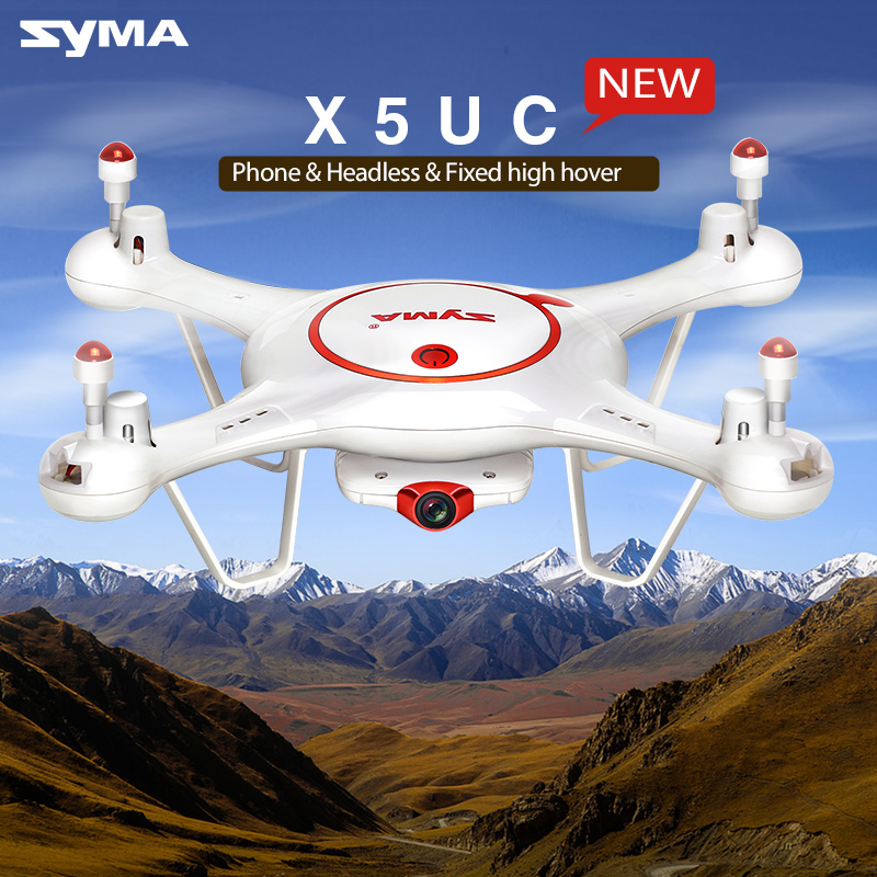 SYMA RC Drone  X5UC 2.4G 6 Axis Gyro HD Camera RC Headless Quadcopter Aircraft with 2.0 MP Camera One Key Take-Off/Landing syma x5sw fpv explorers 2 2 4ghz 4ch 6 axis gyro rc headless flying quadcopter drone with hd wifi camera rc drone black white