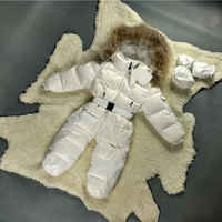 Baby Boy Goose Down Hooded Jackets for Newborns Snowsuit Warm Overalls Wear Infant Kids Girl Winter Romper Clothing Jumpsuit Set