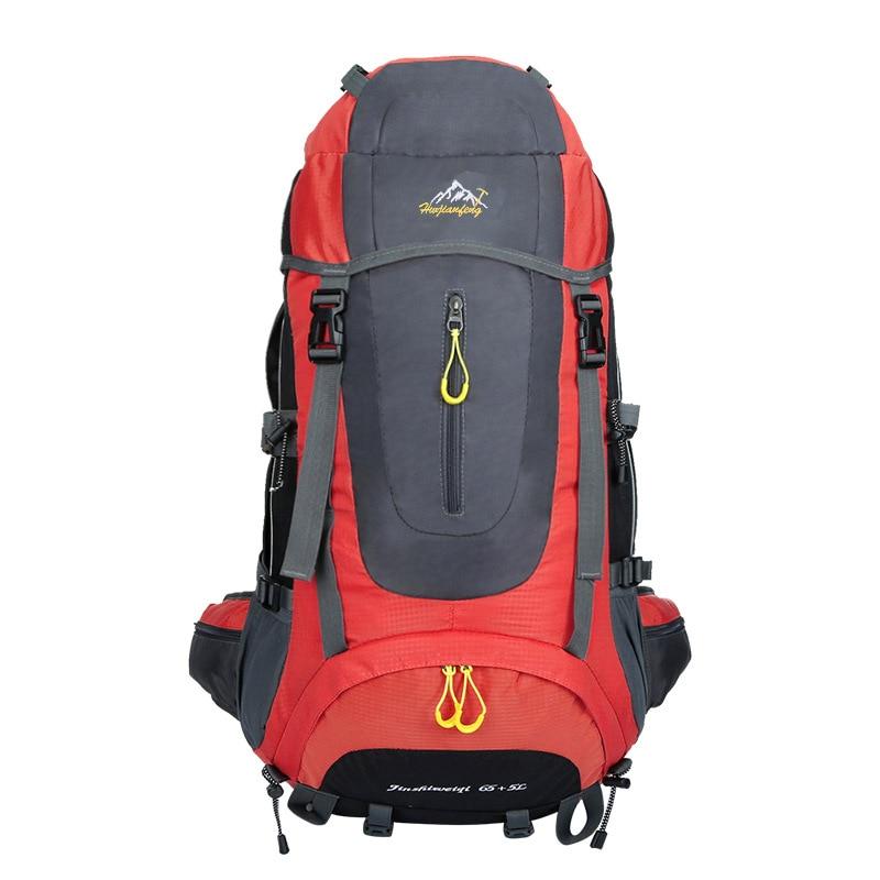 Sports de plein air 70L Trekking Camping sac à dos hommes femmes résistant à l'eau escalade voyage sac à dos randonnée sac de pêche 5 couleurs