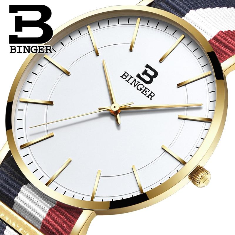 Simples do Desenhista Amantes de Relógios de Quartzo de Japão Relógio de Pulso Lona de Nylon Pulseira de Relógio Clássico Casais Colorido Listras Unisex Reloj