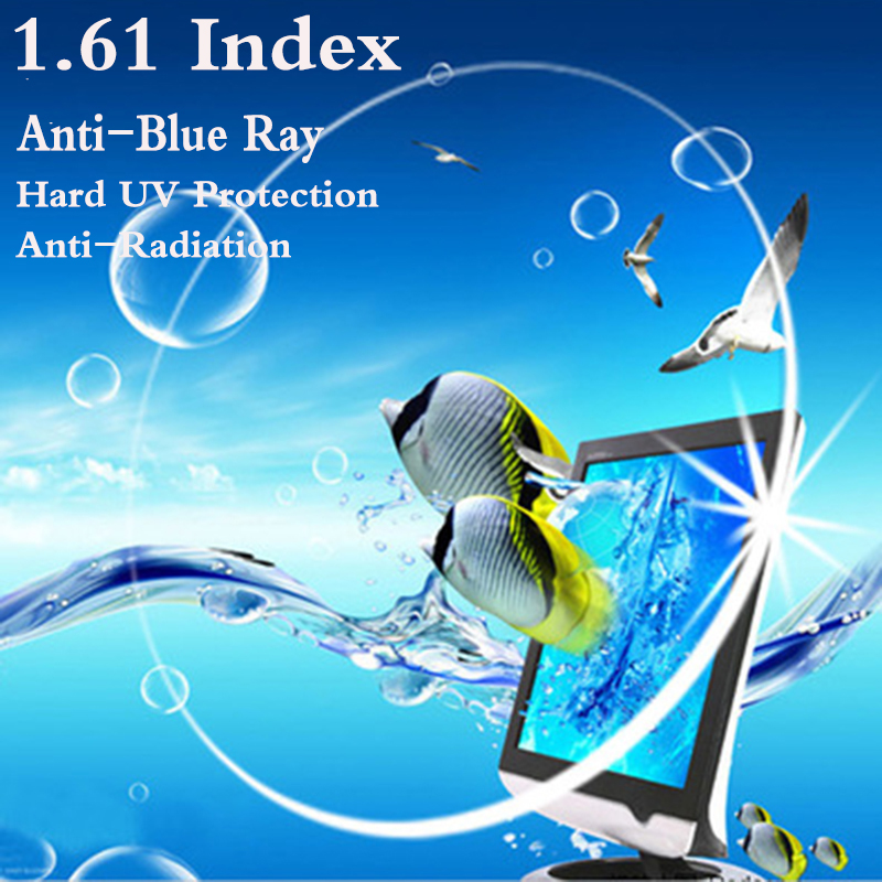 1.61 Index Ultra Thin CR-39 Aspheric Optical Prescription Lens Myopia Presbyopia UV Protect Anti-Blue Rays Anti-Radiation RS081