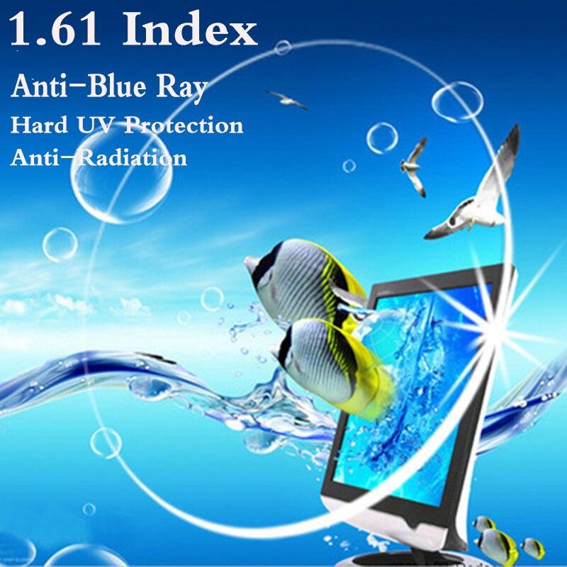 1.61 Indice Ultra Sottile CR-Ottico Asferico Lente di Prescrizione di Miopia Presbiopia UV Proteggere Anti-Blu Raggi Anti-Radiazioni RS081