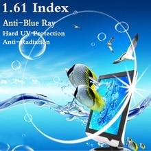 1.61 indeks Ultra cienka CR 39 asferyczne optyczne soczewki korekcyjne krótkowzroczność prezbiopia ochrona UV anty niebieskie promienie anty promieniowanie RS081