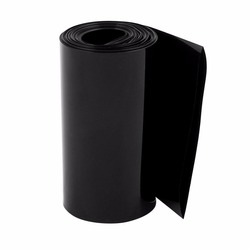 Uxcell Hot Sale 1PCS 85mm Flat Width 1M Length PVC Heat Shrink Tube Black for 18650 Battery Pack Insulation casing Heat shrink