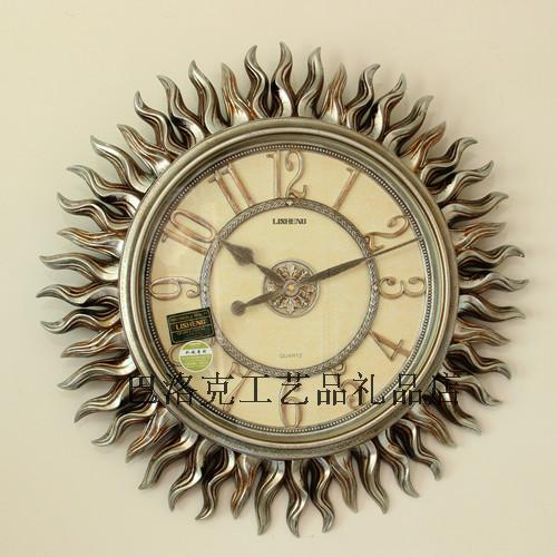 Grande horloge murale résine mode horloge qualité accessoires maison muet horloge murale