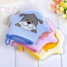3 цвета мультфильм супер мягкий хлопок Детская ванна душ щетка милые животные моделирование губка пудра тереть полотенце мяч для детей