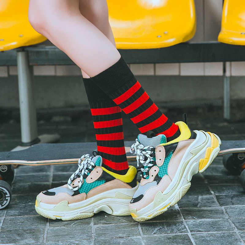 ใหม่ผู้หญิงลายพิมพ์ฝ้ายถุงเท้า Harajuku แฟชั่นคุณภาพสูง Novelty ตลกสบายๆ Street สเก็ตถุงเท้าฤดูใบไม้ร่วงฤดูหนาว