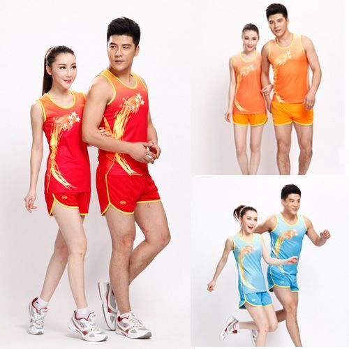 2017 Promotion New O-neck Belt Track And Field Suits Men Students Fitness Jogging Vest Shorts Training Uniforms Sets